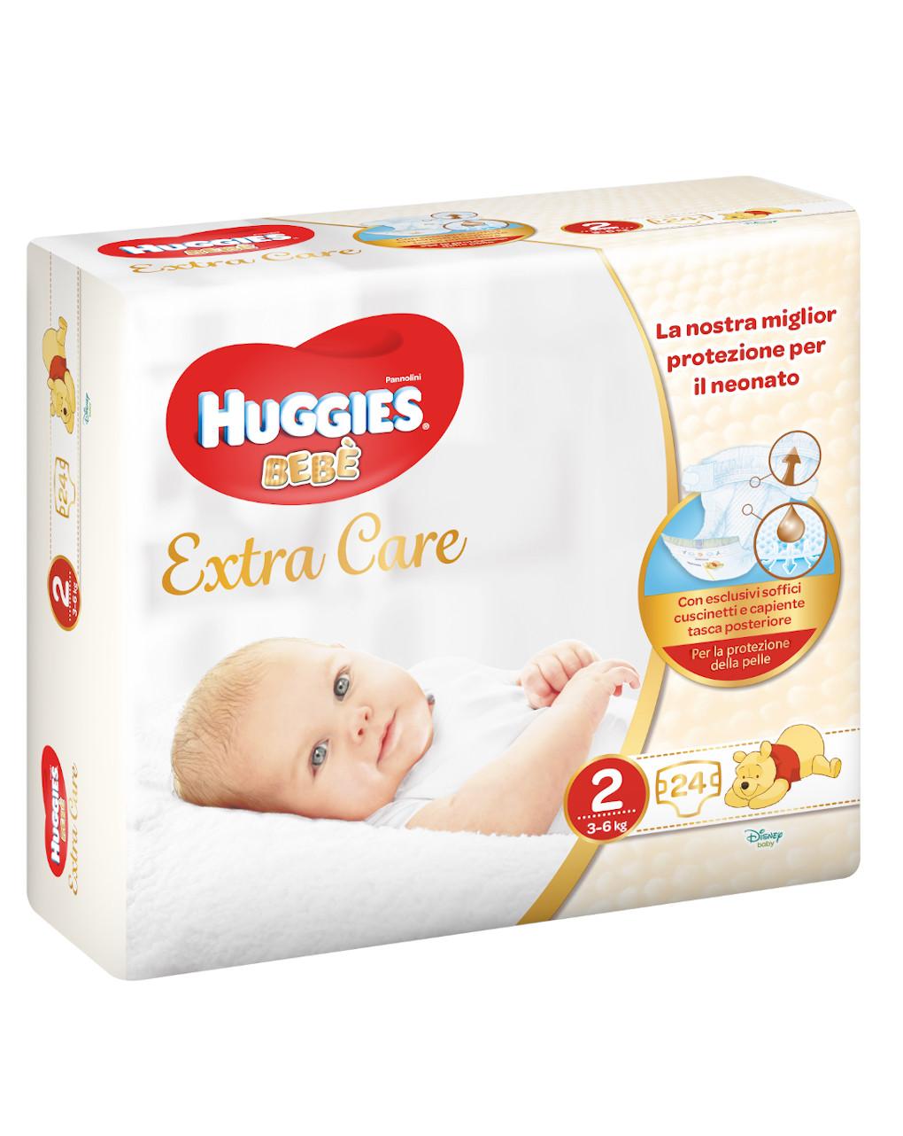 Huggies bebè extra care (3-6kg) - 24 pz - Huggies