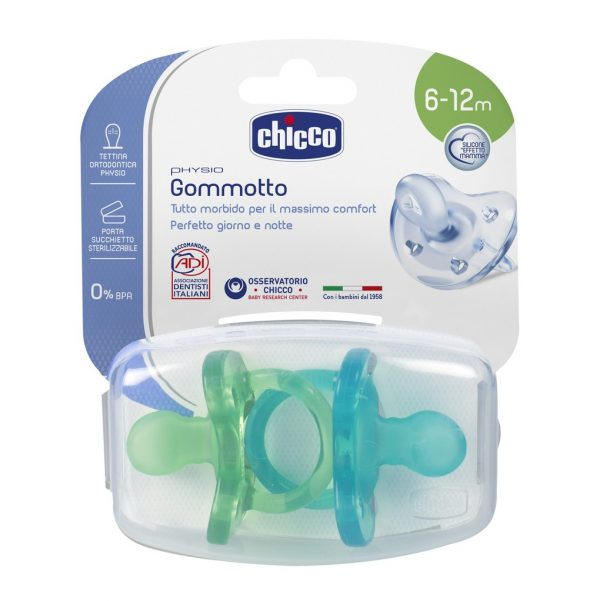 Gommotto Physio Silicone Boy 6-12m (x2) - Chicco