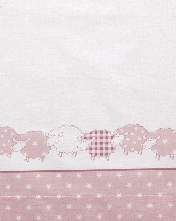 Completo per culla e carrozzina con pecorelle rosa - Prénatal