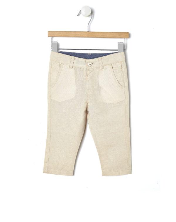 Pantaloni in lino beige - Prénatal