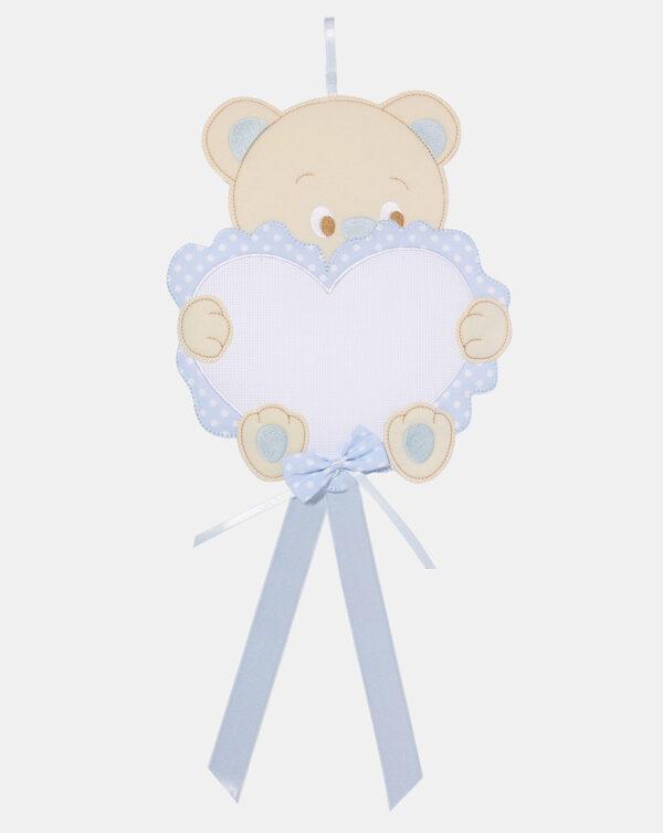 Fiocco nascita cuore tela aida bimbo - Prénatal