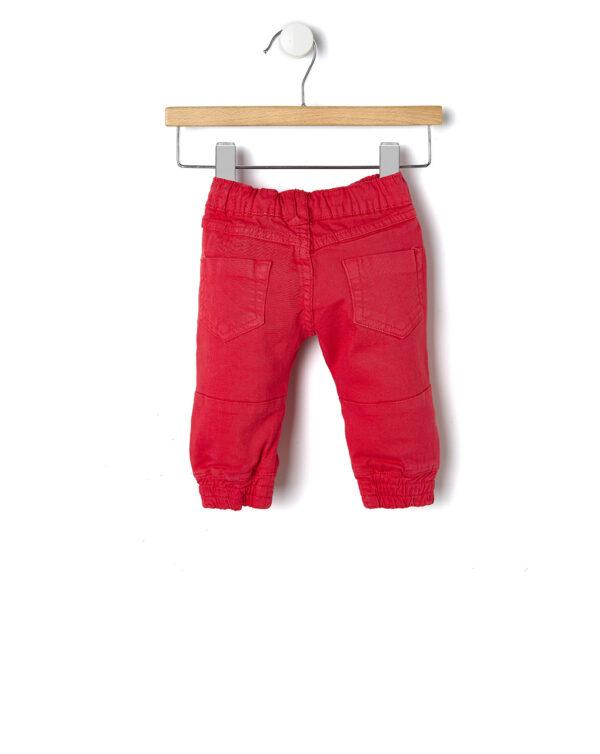 Jeans rossi con elastico alle caviglie - Prénatal
