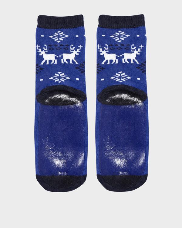 Calze antiscivolo bimbo con renne e fiocchi di neve - Prénatal