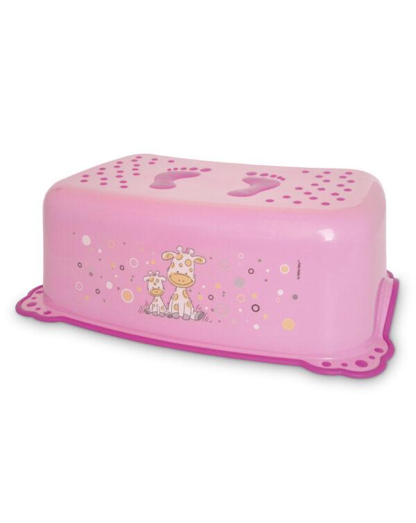 Taburete de baño jirafa - rosa - Giordani