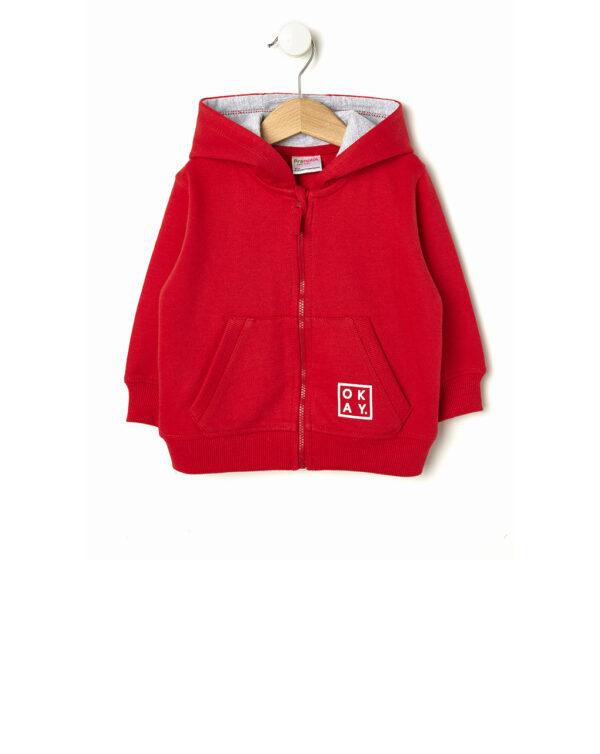 Cardigan in felpa rossa con cappuccio - Prénatal