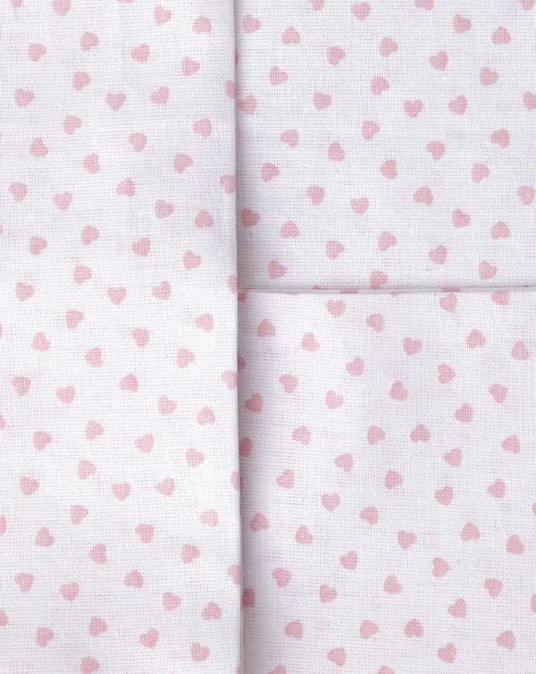 Parure per culla 2 pezzi rosa con cuori - Prénatal