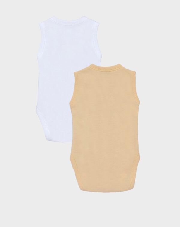 Pack 2 body a canotta extrasmall bianco e giallo - Prénatal