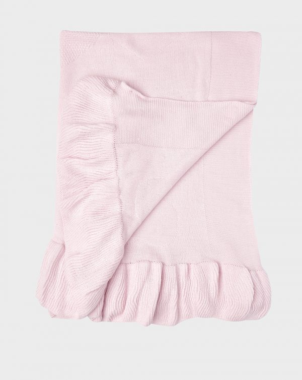 Scialle in tricot rosa con cuori - Prénatal