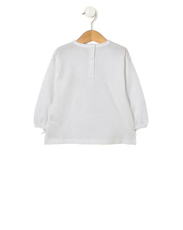 T-shirt bianca con bambina con cappello in sangallo - Prénatal