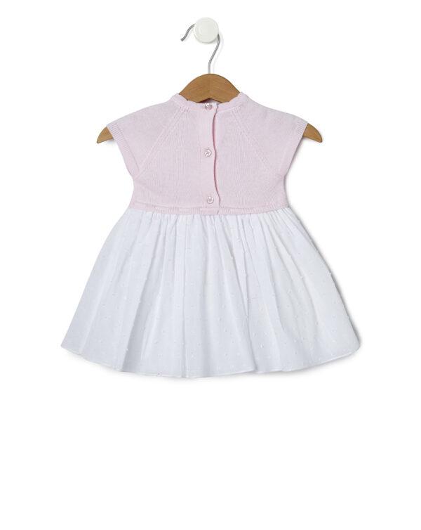 Abito rosa e bianco con culotte - Prénatal
