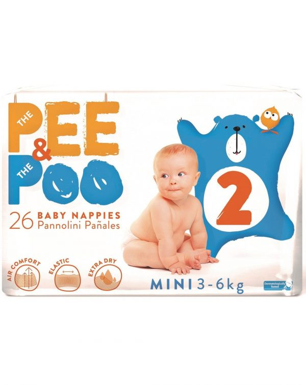 The Pee & The Poo Mini tg 2 (pacco singolo 26 pz) - The Pee & The Poo
