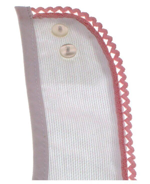 Bavaglino in cotone con bordo ricamato - Prénatal
