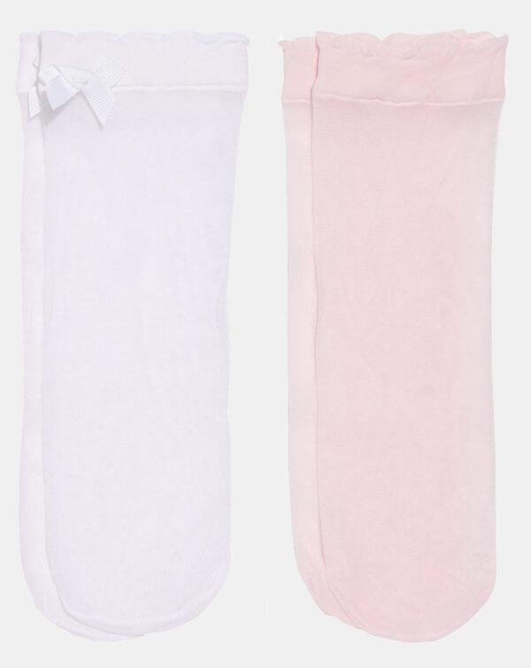 Pack 2 paia di calze corte bambina in filanca con fiocco - Prénatal