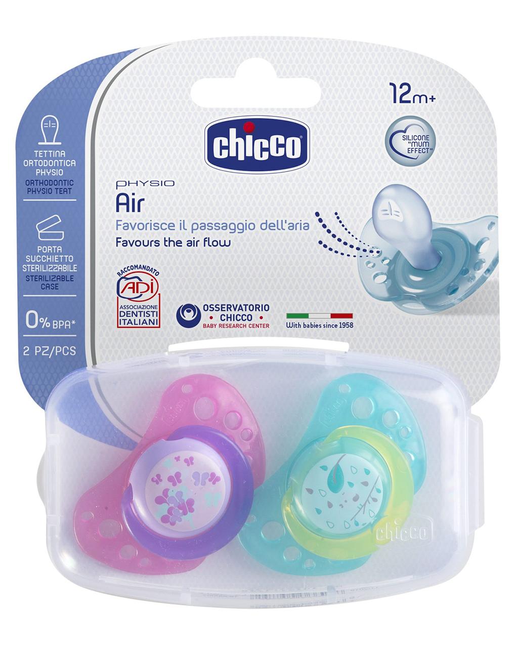 Succhietto air silicone 12m+ girl (2pz) - Chicco