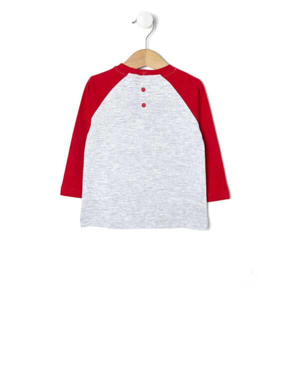 T-shirt grigia con maniche rosse - Prénatal