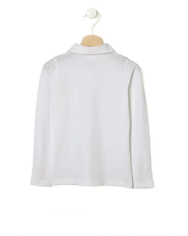 Polo bianca con taschina - Prénatal