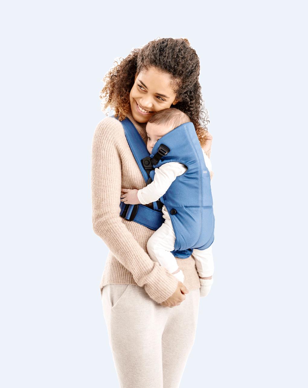 Marsupio baby carrier mini vintage indigo cotton - Baby Bjorn