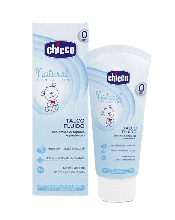 Talco fluido Natural Sensation 100ml. - Chicco