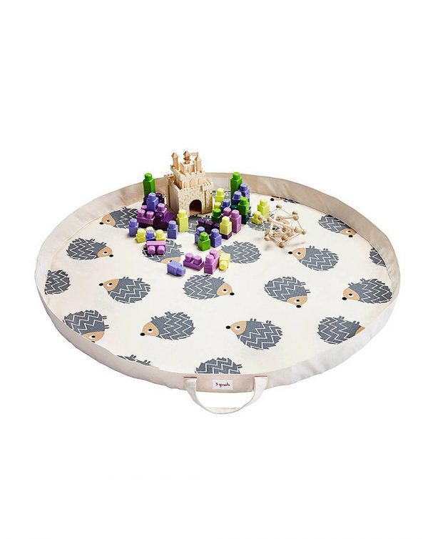 Tappeto gioco neonato fantasia riccio grigio - 3 sprouts