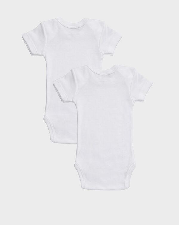 Pack 2 body in cotone felpato bianco scollo americano - Prénatal