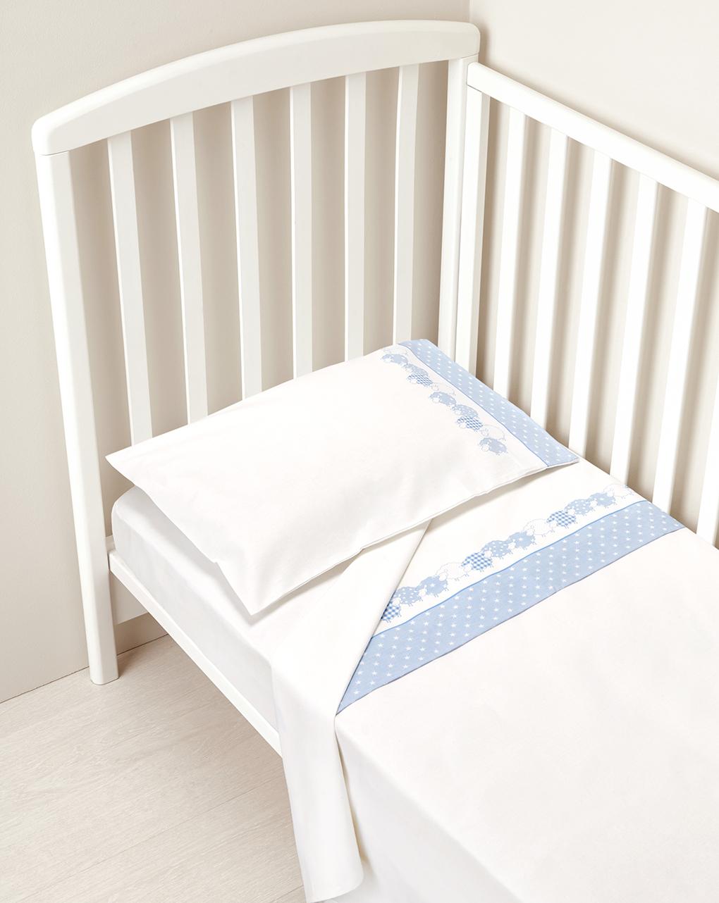 Letto - completo per letto con stelle e pecorelle azzurre - Prénatal