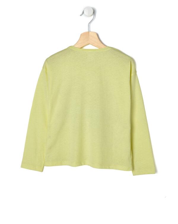 T-shirt gialla con scritta e nastro nero - Prénatal