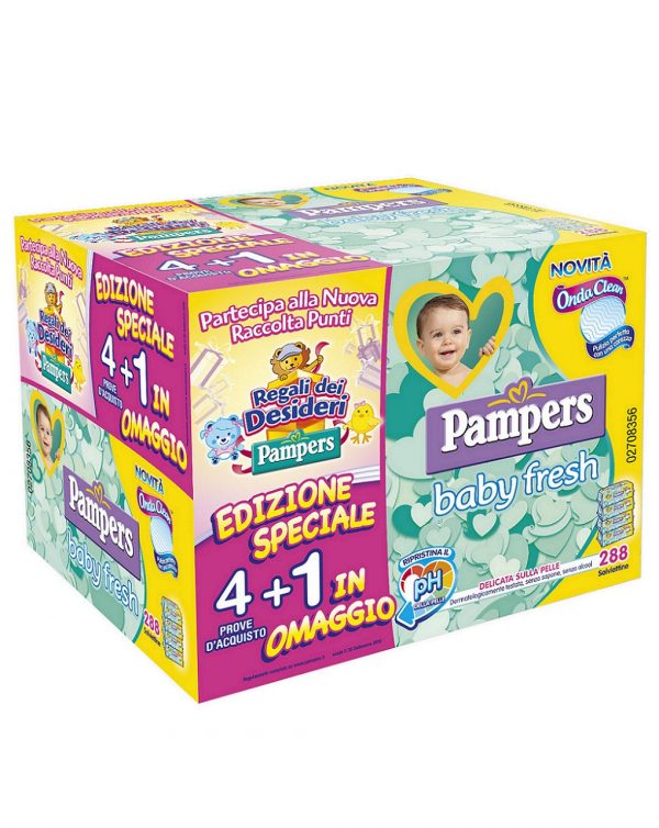 Salviettine baby fresh 288 pcs - Pampers