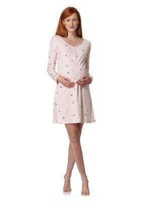 Camicia da notte rosa con stampa all-over cuori - Prénatal
