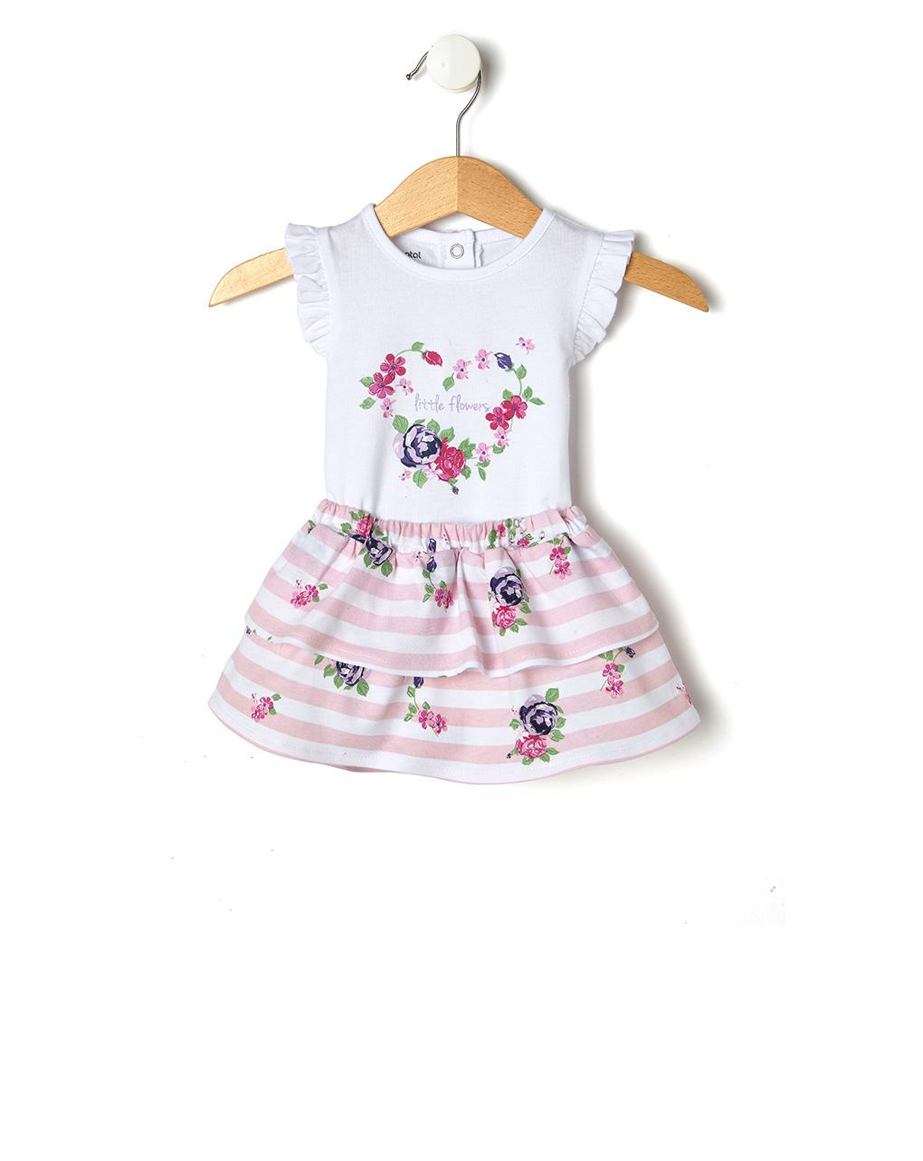 buy online fbb2c c660e Set 2 pezzi con body e gonnellina a righe rosa