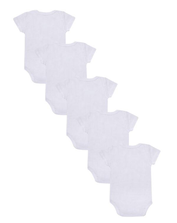Pack 5 body in cotone bianco con apertura laterale - Prénatal