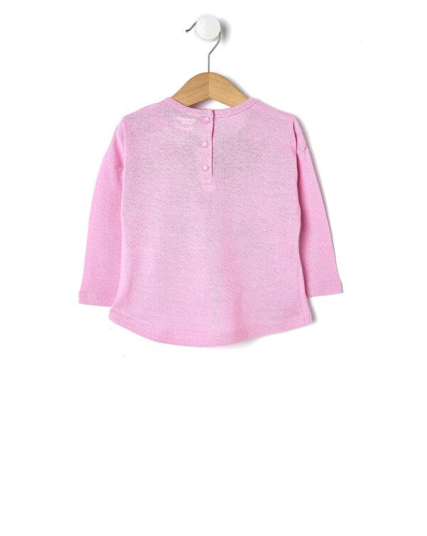 T-shirt rosa con cuori glitterati - Prénatal