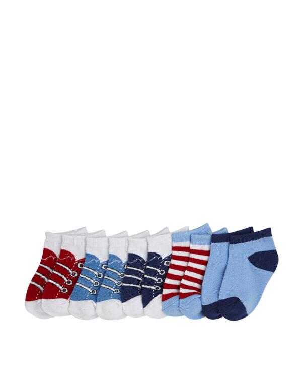 Pack 5 calze corte con stampa sneakers e righe - Prénatal