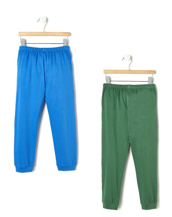 Pack 2 pigiami con dinosauri verdi e blu - Prénatal