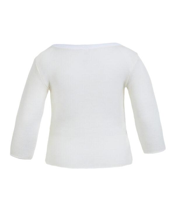 Maglietta a maniche lunghe lana fuori cotone sulla pelle - Prénatal