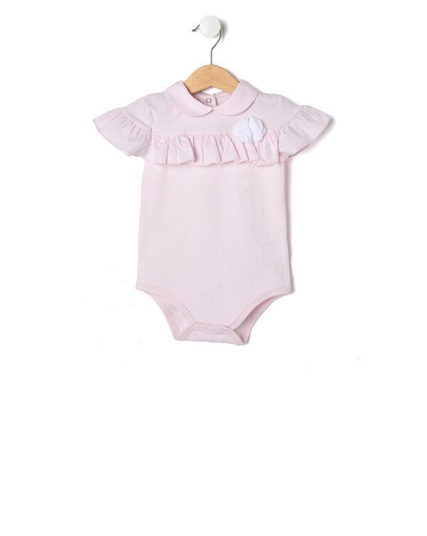 Elegante body rosa con balze - Prénatal