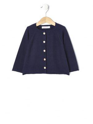 53b69b100fe6 Cardigan in tricot con bottoni effetto legno
