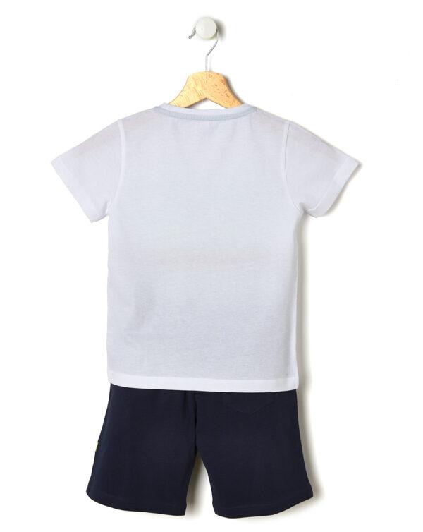 Completo t-shirt e bermuda con scritta multicolore - Prénatal