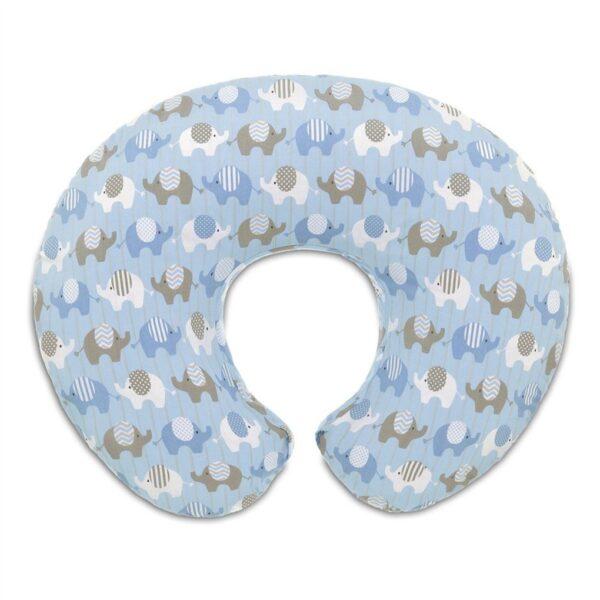 Fodera per cuscino Boppy Blue Elephants - Prénatal