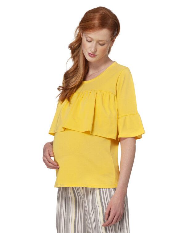 T-shirt allattamento con rouches - Prénatal