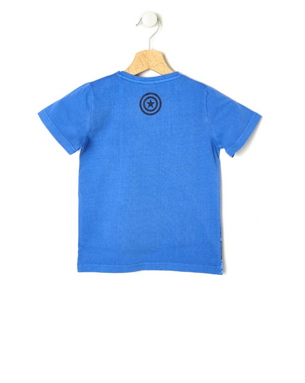 T-shirt blu con Capitan America - Prénatal