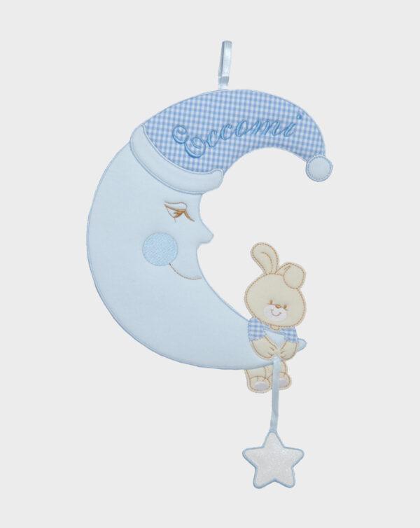 Fiocco nascita con luna maschio - Prénatal
