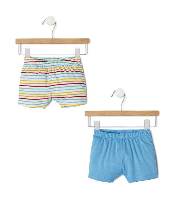 Pack 2 pantaloncini bambino in jersey - Prénatal