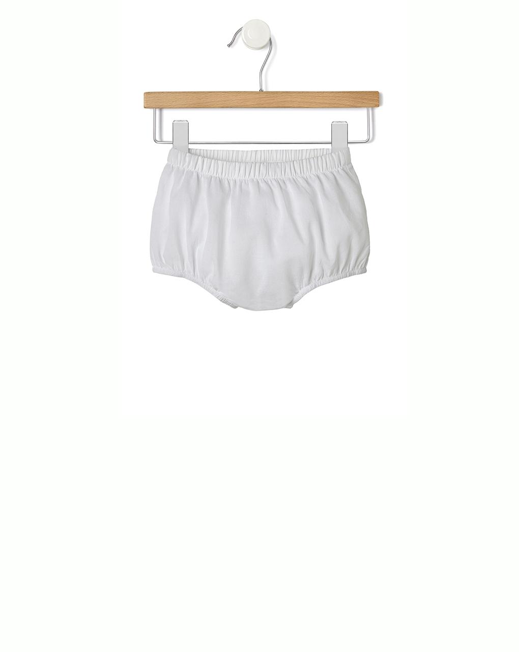 c6014ad32d2c Abito in sangallo bianco con culotte - NEONATO 0-36
