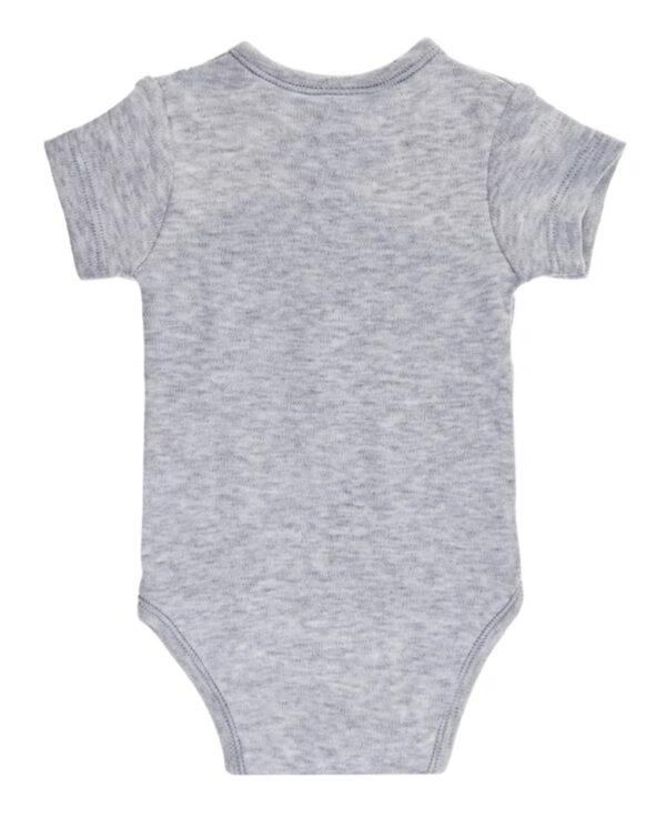 Body a manica corta in cotone felpato grigio - Prénatal