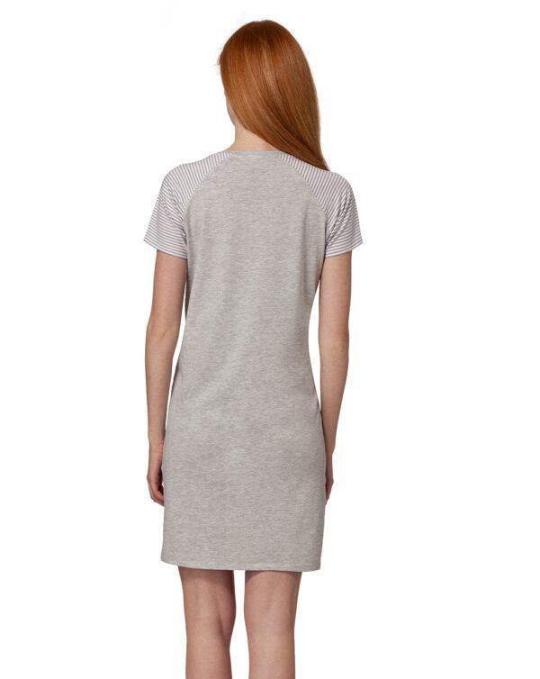 Camicia da notte grigio chiaro mélange con scritta - Prénatal