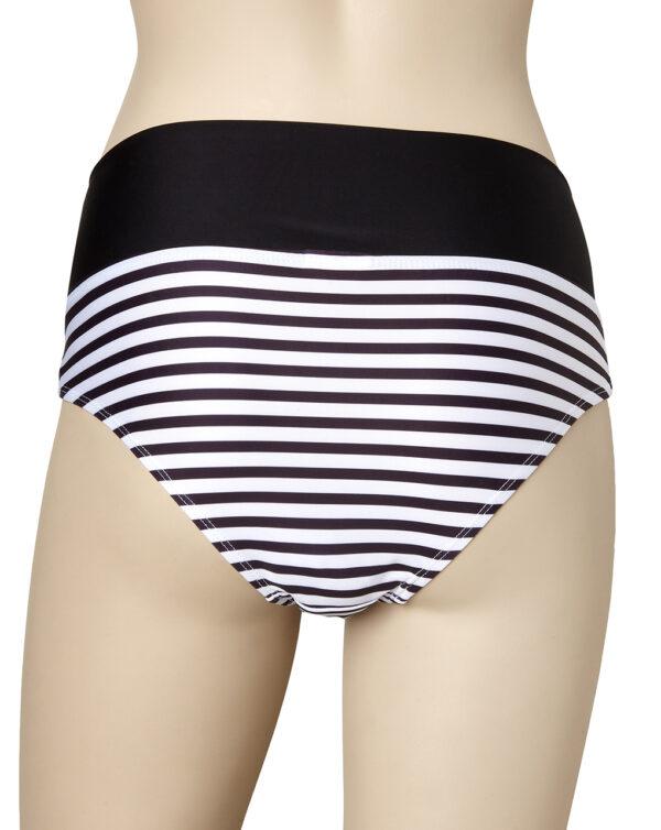 Slip bikini a righe con risvolto blu - Prénatal