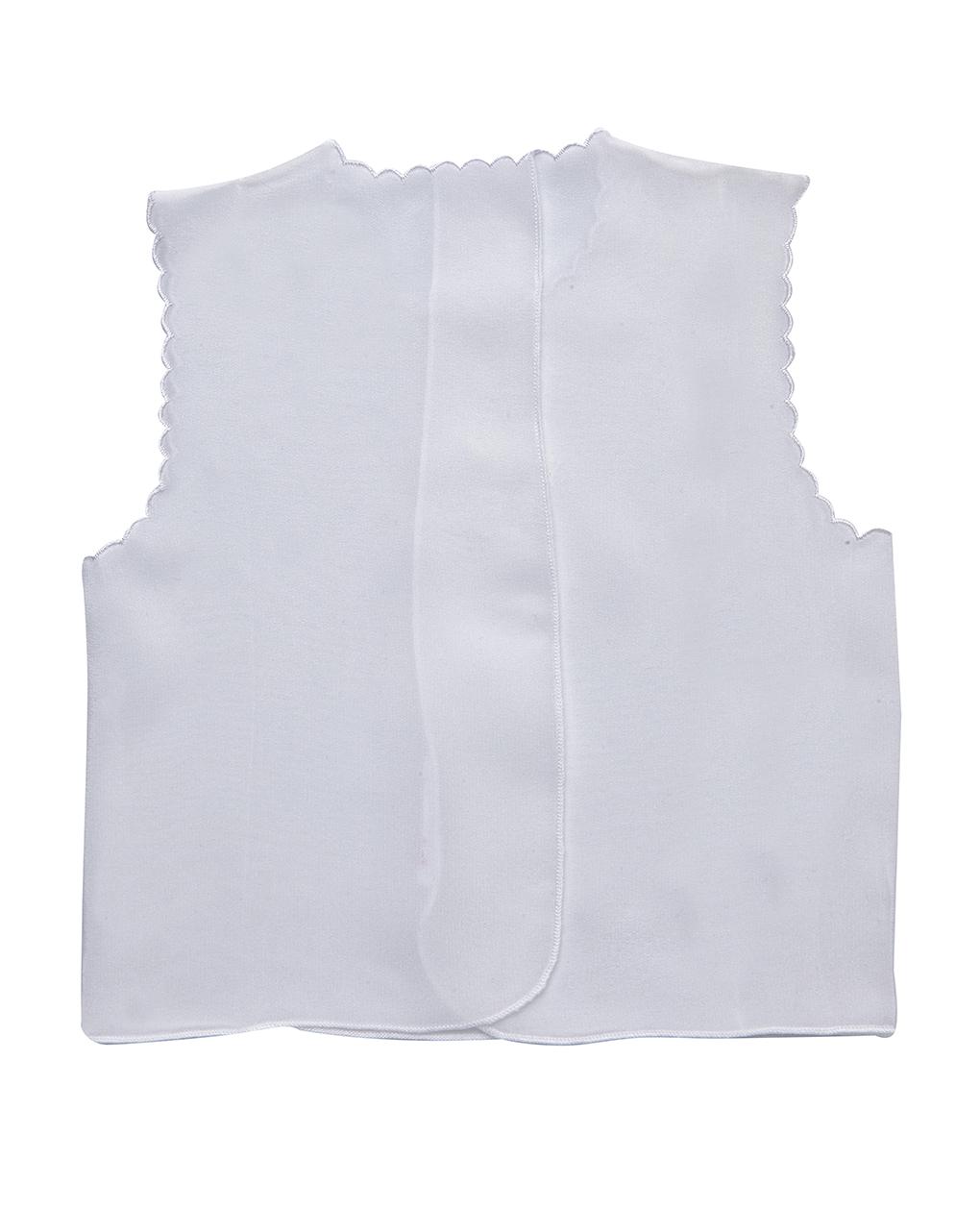 buy online 91077 b43f7 Camicino in seta bianco con scritta Bebe