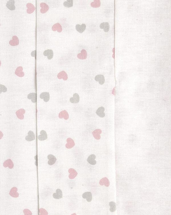 Completo letto 3 pezzi con orsetto rosa e cuoricini - Prénatal