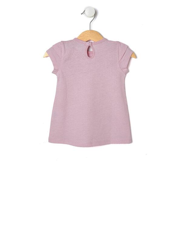 T-shirt rosa in jersey con fantasia di cuori - Prénatal