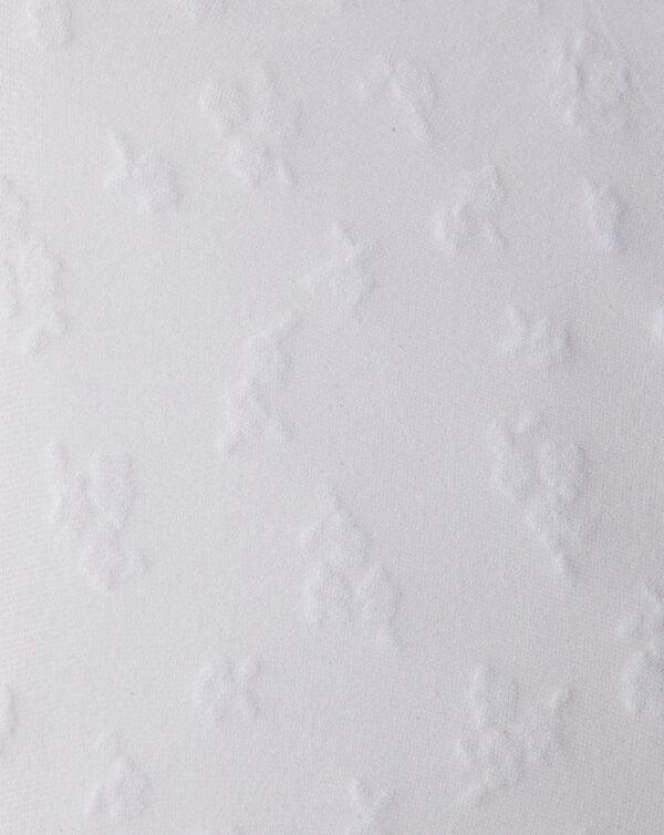 Collant in filanca bianca con fiorellini - Prénatal
